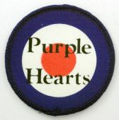Purple Hearts - 'Name' Printed Patch